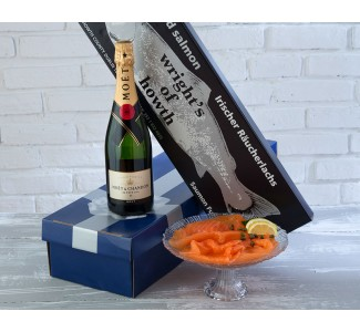 Smoked Salmon & Champagne Gift Box